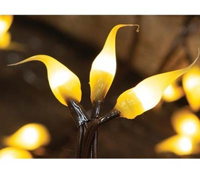 Lemon Silicone Dipped Teeny String Lights - 35 count