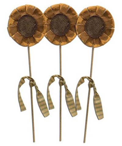 Sunflower Picks (Set of 3)