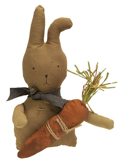 Grungy Bunny Doll with Carrot