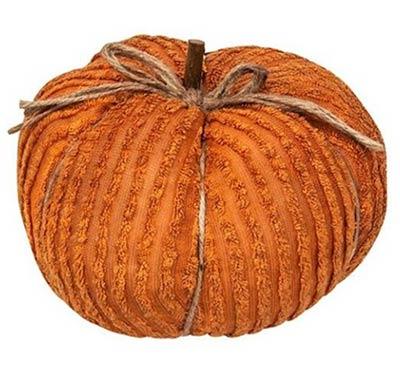 Orange Chenille Pumpkin - 9.5 inch