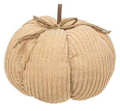 Ivory Chenille Pumpkin - 9.5 inch
