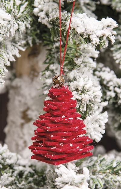 Red Felt Christmas Tree Ornament