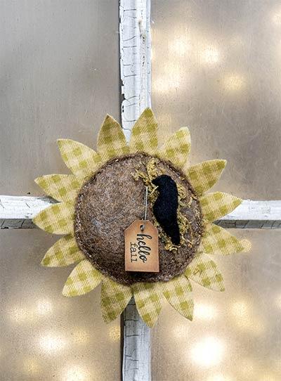 Sunflower Felt Ornament
