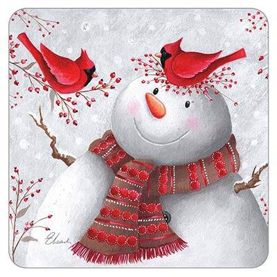 Cardinals Talking to Snowman Coaster