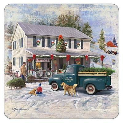 Antique Christmas Coaster