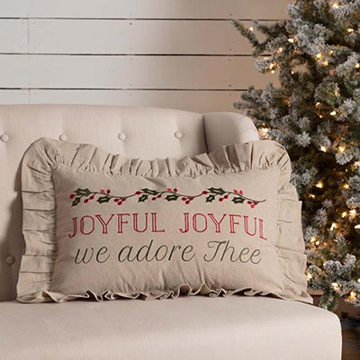 Carol Joyful Pillow (14x22)