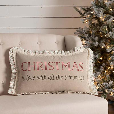 Carol Trimmings Pillow (14x22)