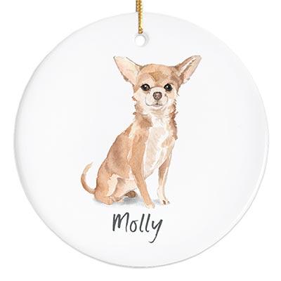 Chihuahua Personalized Ornament
