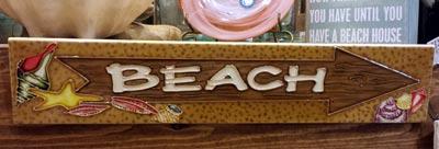 Beach Arrow Art Tile
