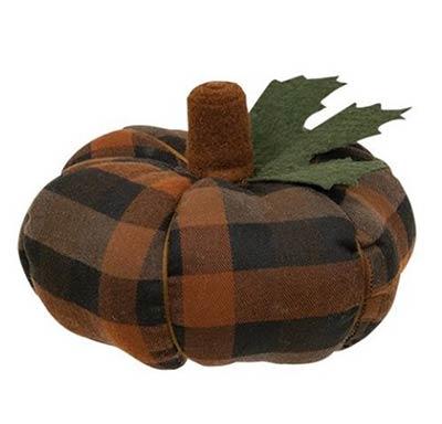 Autumn Plaid 6.5 inch Pumpkin