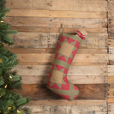 Dolly Star Red Patch 20 inch Stocking
