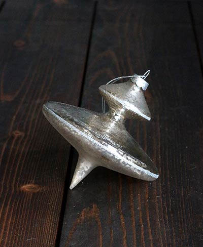 Silver Antiqued Finial Ornament