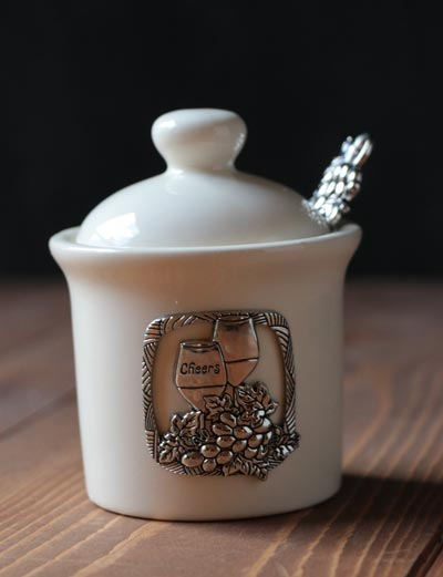 Grapes Jar with Spoon