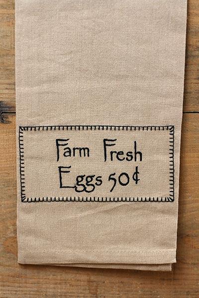 Farm Fresh Eggs 50 cents Dishtowel
