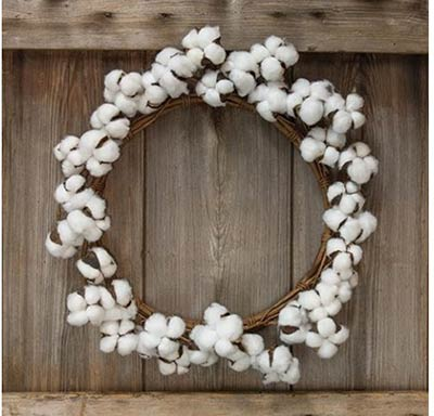 Cotton Ball 17 inch Wreath