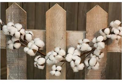 Cotton Ball Garland (40 inch)