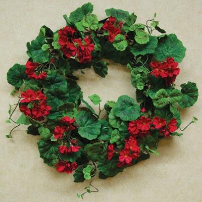 Red Geranium Wreath
