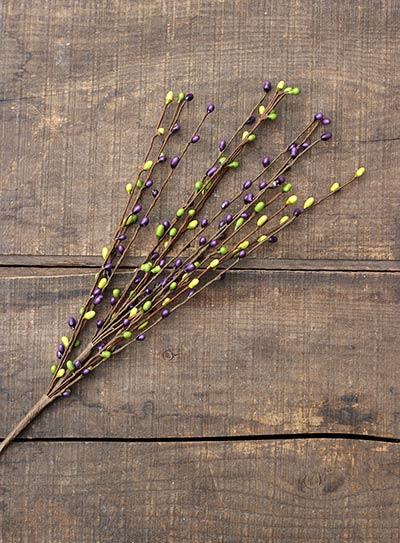 Purple & Greens 18 inch Pip Berry Pick