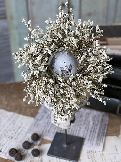 Cream Fall Array Astilbe 3 inch Candle Ring