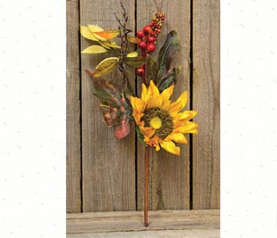 Harvest Sunflower Floral Pick