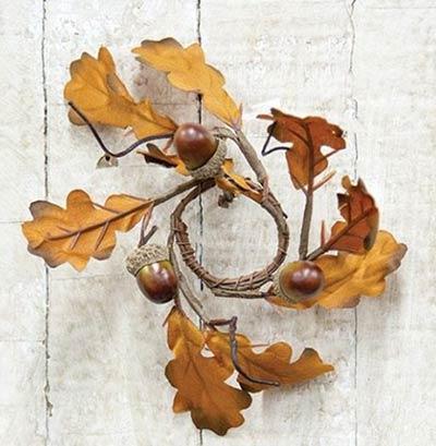 Acorn & Oak Leaves Mini Candle Ring
