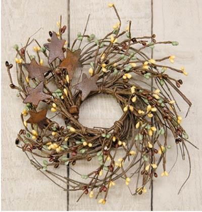 Chocolate & Mint Twig & Berry Wreath