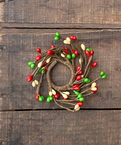 Holly Jolly Adjustable Mini Candle Ring