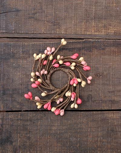 Pink & Cream Adjustable Mini Candle Ring
