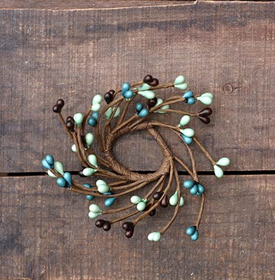Feathered Nest Adjustable Mini Candle Ring