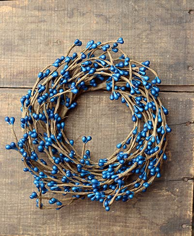 Blue Pip Berry 4.25 inch Candle Ring