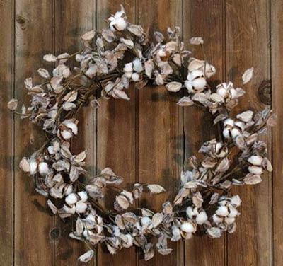 Cotton Ball 20 inch Wreath