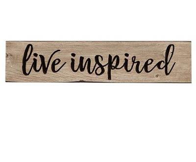 Live Inspired Engraved Sign