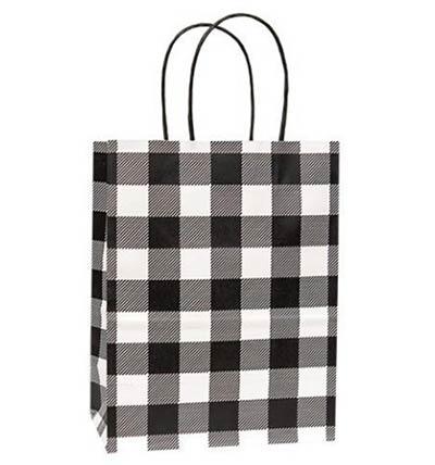 Medium Buffalo Check Black Gift Bag