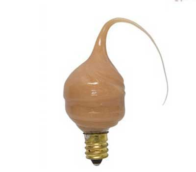 Cinnamon Colored Silicone Light Bulb