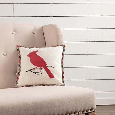Hollis Cardinal Pillow (12x12)