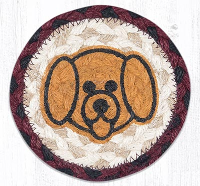 Puppy Face Braided Coaster