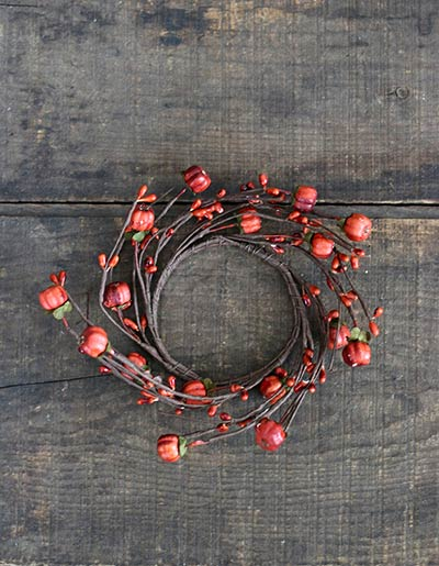 Pumpkin Pod Candle Ring - 2 inch