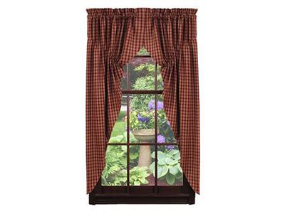Cambridge Wine Prairie Curtain (63 inch)