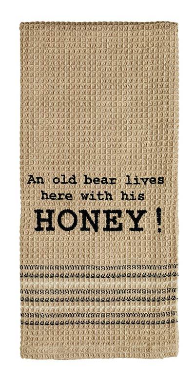 An Old Bear Dishtowel