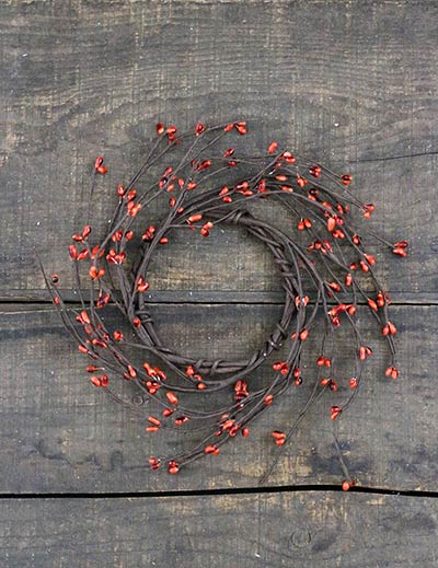 Burnt Orange Pip Berry Candle Ring - 3.5 inch