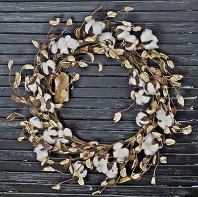 Cotton & Shell 20 inch Wreath