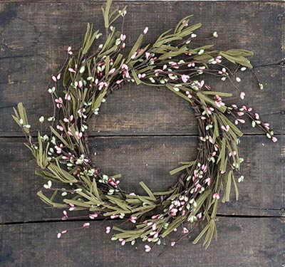 Grassy Pastel Pip Berry 6.5 inch Candle Ring