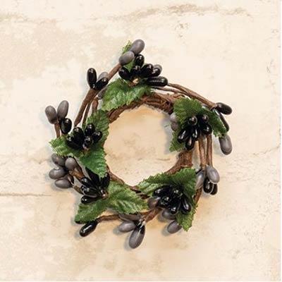 Black & Gray Pip Berry Ring - 1 inch