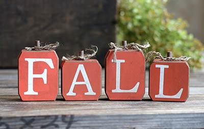 Fall Blocks Shelf Sitter