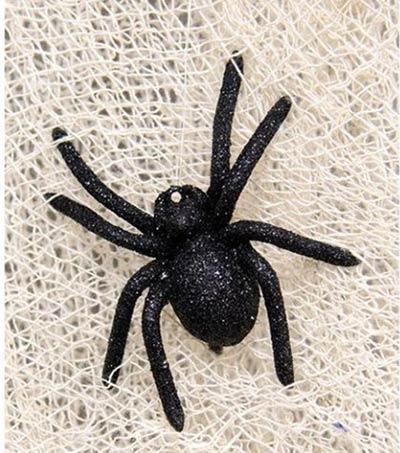 Black Glitter Spider