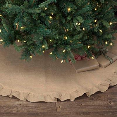 Jute Burlap Natural 55 Inch Tree Skirt