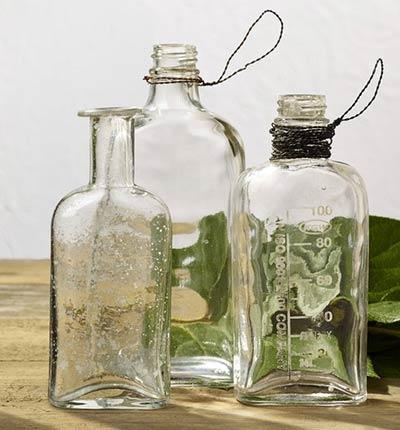 Glass Bottle Trio