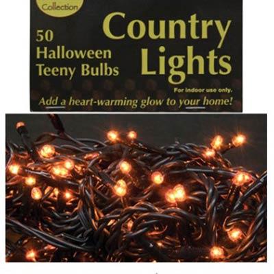 Teeny Orange String Lights - 50 count
