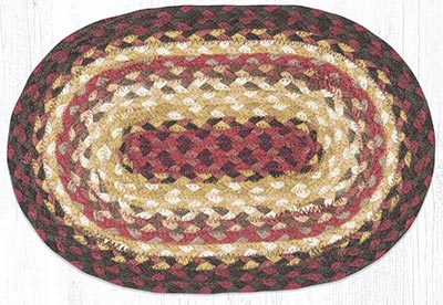 Claret Braided Oval Tablemat