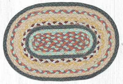 Classic Stucco Braided Oval Tablemat